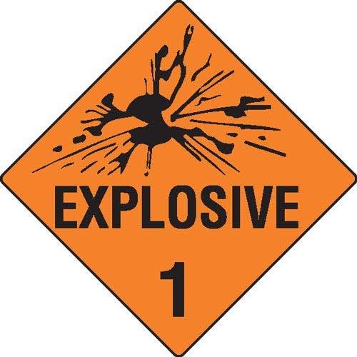 Explosives 1 Hazchem Sign