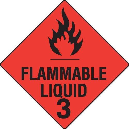 Flammable Liquid 3 Hazchem Sign