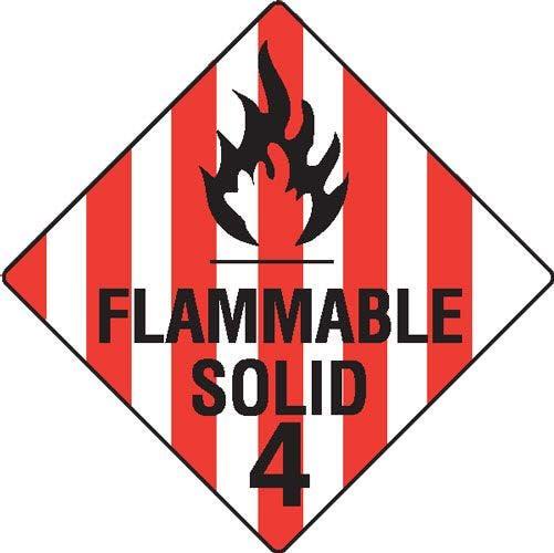 Flammable Solid 4 Hazchem Sign