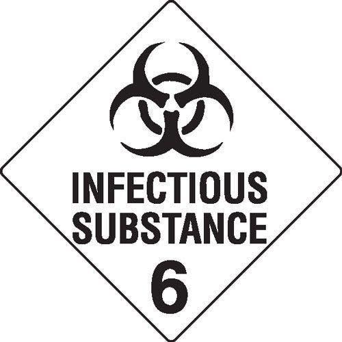 Infectious Substance 6 Hazchem Sign