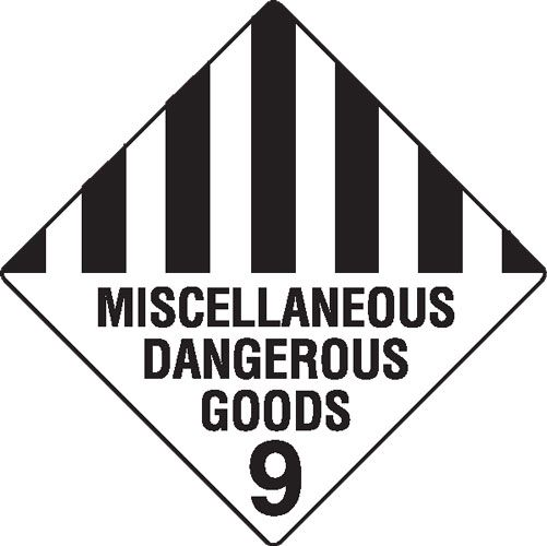 Miscellaneous Dangerous Goods 9 Hazchem Sign