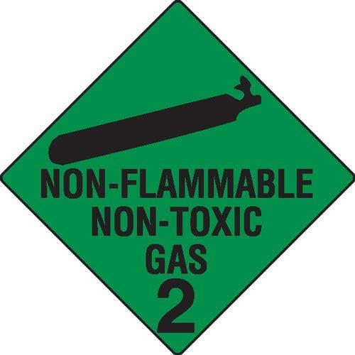 Non-Flammable Non-Toxic Gas 2 Hazchem Sign