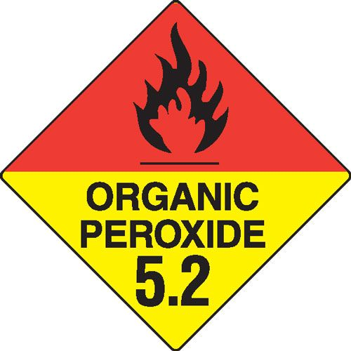 Organic Peroxide 5.2 Hazchem Sign