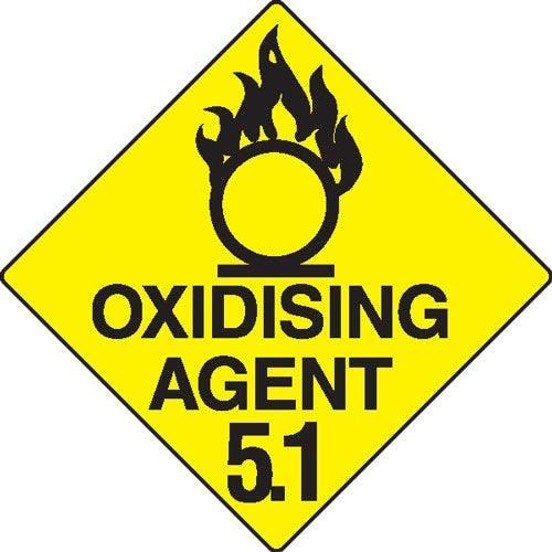 Oxidising Agent 5.1 Hazchem Sign