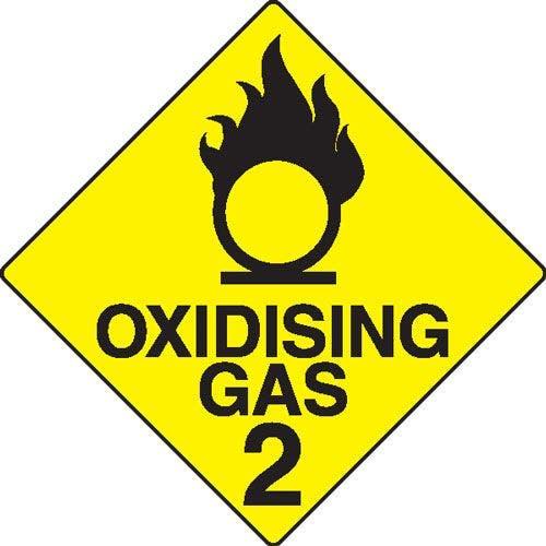 Oxidising Gas 2 Hazchem Sign