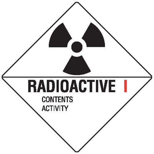 Radioactive I Hazchem Sign