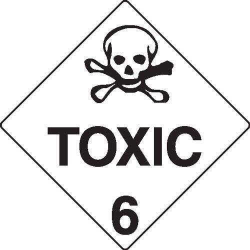 Toxic 6 Hazchem Sign