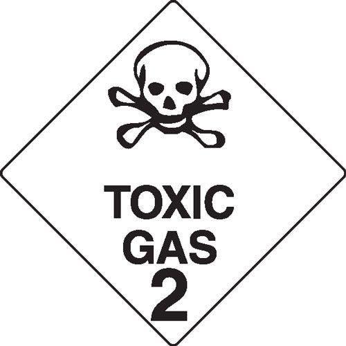 Toxic Gas 2 Hazchem Sign